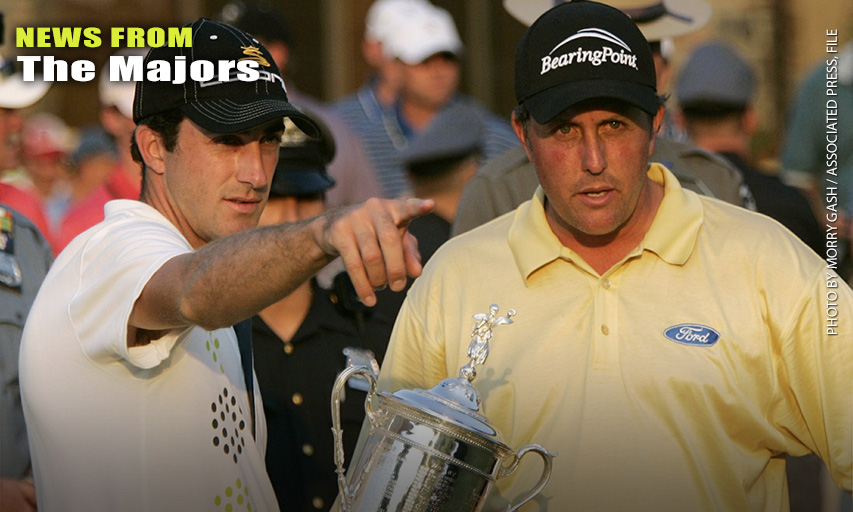 Geoff Ogilvy and Phil Mickelson at the 2006 U.S. Open